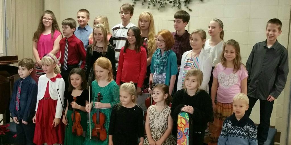 Hamlin Music Students at 2015 Christmas Recital